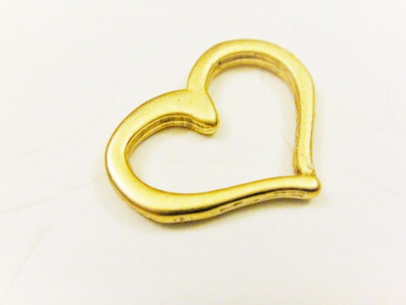 2PC shiny gold lips  spacer Vermeil hugs and kisses 18k gold over 925 sterling silver XOXO Kiss Mark Lips Connector Charm