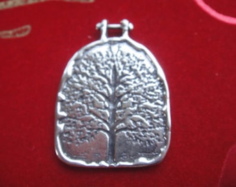 925 sterling silver oxidized pendant with tree of life, silver tree of life, tree, silver tree