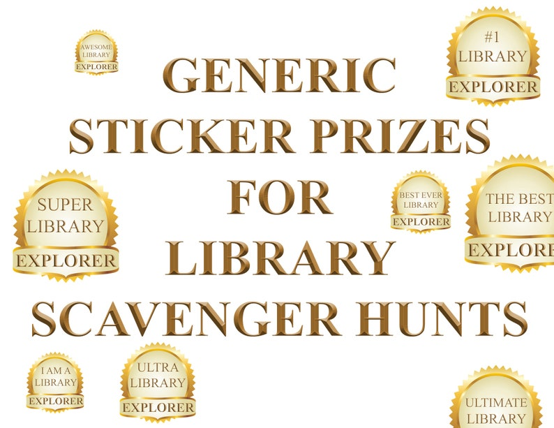Generic Sticker Prizes for Library Scavenger Hunts image 0