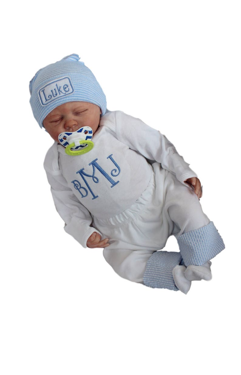 9b2189a90 Baby Boy Coming Home Outfit. Newborn Boy Clothes. Monogram