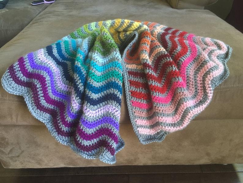 Rainbow Baby Blanket Rainbow Baby Baby Blanket Crochet Etsy