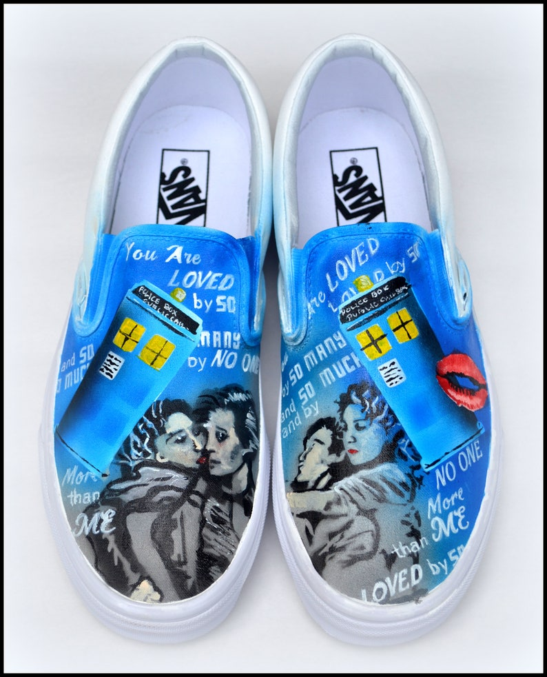 ad9cec64334 Doctor Who Shoes Mens Womens Shoes Custom Painted Wedding