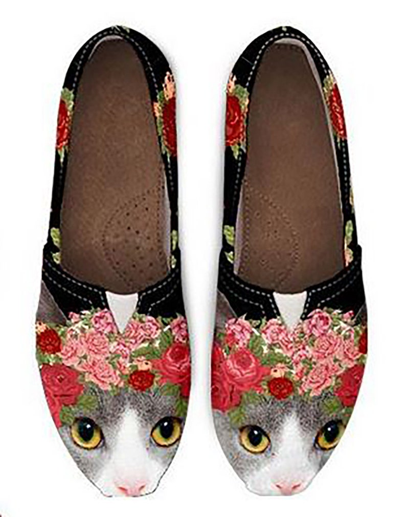 1466cae65e8 Cat Themed Shoes Custom Made Shoes for Women   Girls Vintage