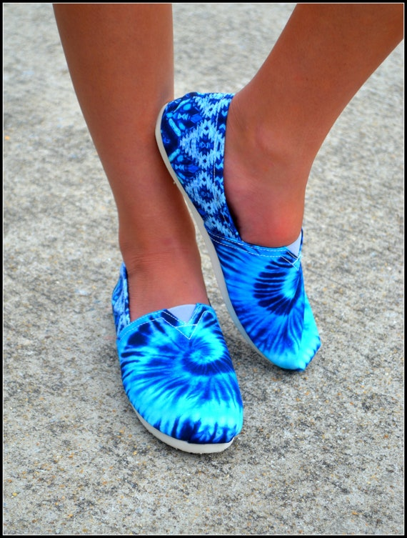 f7d53f976d2 Tie Dyed Slip On Shoes Custom Made Womens Shoes Handmade