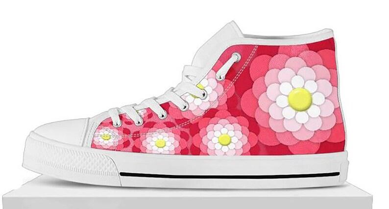 ce525f2e6164 Custom Girls Hi Top Shoes Girls Flower Hi Tops Flower