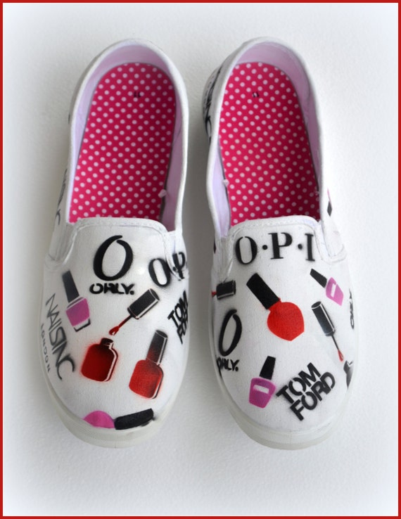 28886d6e4dd Womens Painted Shoes Custom Womens Shoes Nail Polish Art