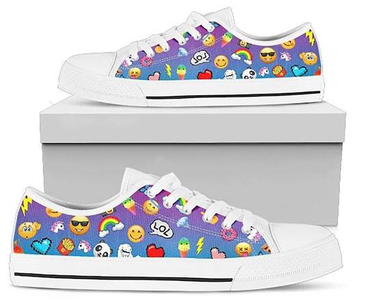 Mädchen Emoji Schuhe benutzerdefinierte Emoji Schuh für Mädchen Geschenke für Mädchen Ostergeschenk