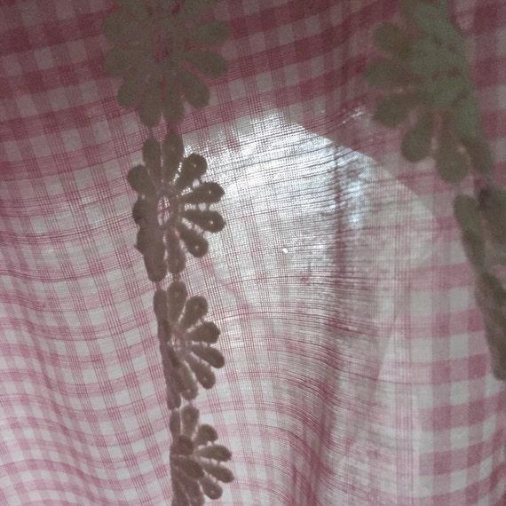 Vintage gingham 50s 60s pink dress / vintage pink… - image 6