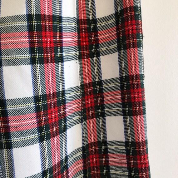 vintage high waist tartan red white green check p… - image 6