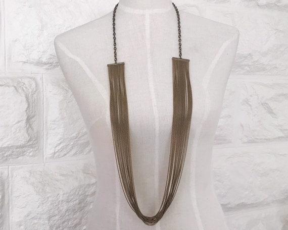 vintage chain necklace // 80s chain necklace // vi