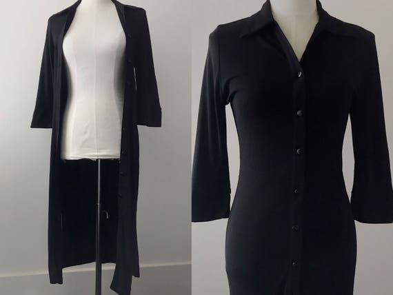 black shirt dress // vintage lbd // vintage black