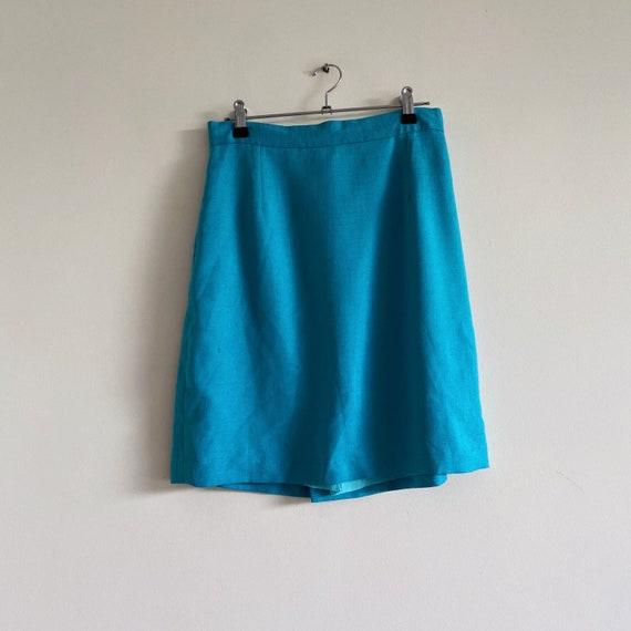1990s steel blue mini skirt 1990s blue skirt extra small vintage skirt
