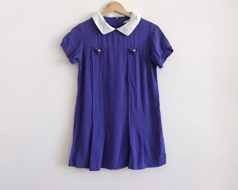 vintage purple dress  60s mini dress  vintage mod dress  vintage tunic