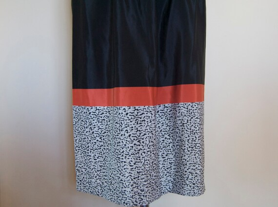 vintage black skirt // coral skirt // vintage mid… - image 6