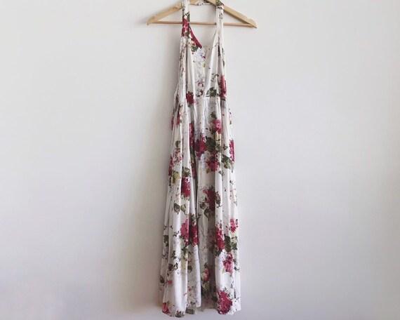 vintage floral dress // floral maxi dress // vinta