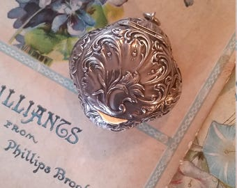 Antique French Compact Solid Silver
