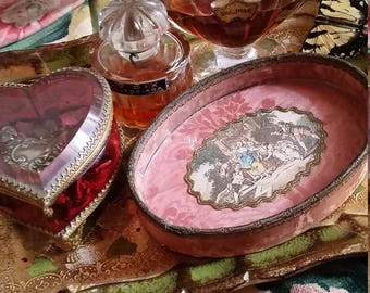 Vintage French Dresser Dish Jewelry Holder