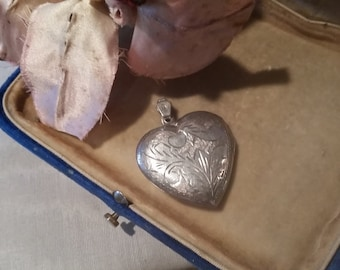 Vintage Sterling Heart Locket