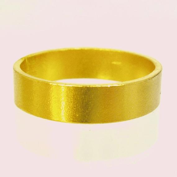 bague or massif 24 carats
