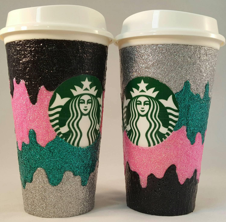 Custom Glitter Coffee Cup Melt Design Custom Decorated