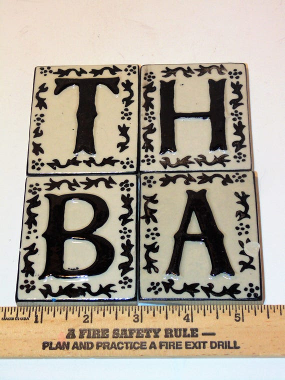 40 Ceramic Letter Tiles Crafting Tiles B A T H Letters Etsy Beauteous Decorative Letter Tiles