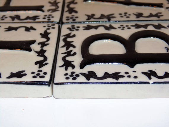 40 Ceramic Letter Tiles Crafting Tiles B A T H Letters Etsy Custom Decorative Letter Tiles