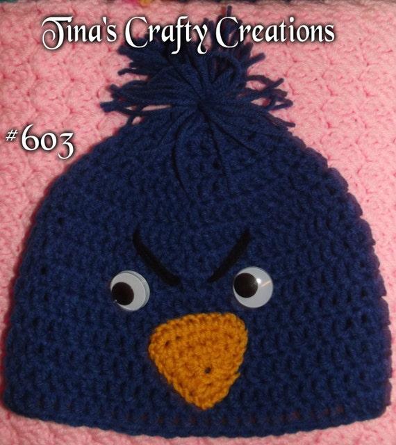 Häkeln Sie Vogel Beanie Angry Birds Tier Drahteinlage Etsy