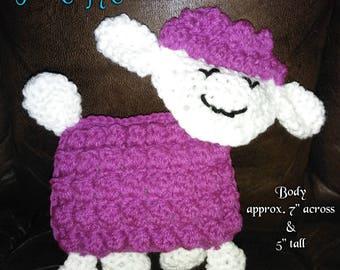 Little Lamb, Crochet Lamb, Crochet Sheep, Handmade Toy, Stuffed Animal, Fluffy Sheep, Happy Lamb, Crochet Toy, Cute Toy