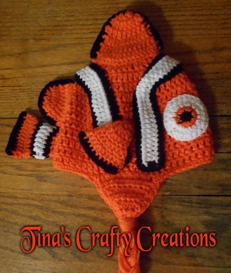 94c25a1770746 Crochet Hat Nemo Hat Clownfish Hat Fish Hat Fun Hat
