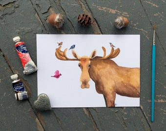 Don't Moose With Me, 5 x 7 PRINT