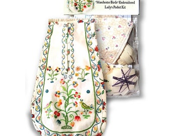 DIY Embroidered Pocket Kit for 18th Century Reenacting and Costumes