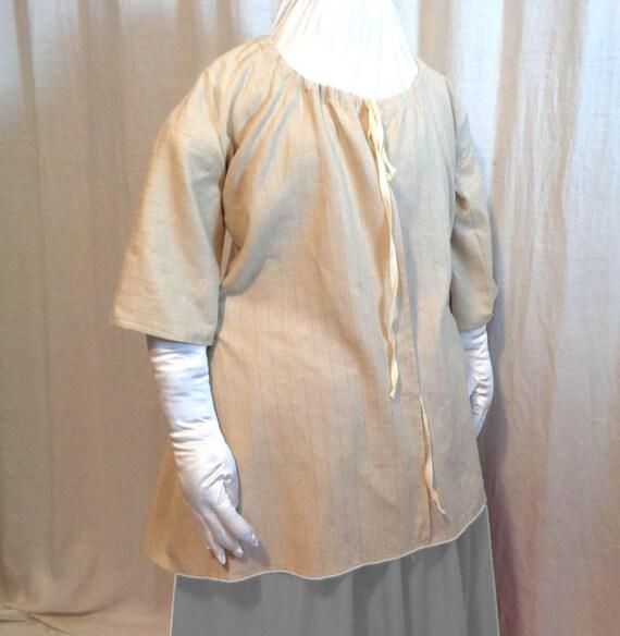 18th Century Beige Stripe Linen Shortgown Jacket | Etsy