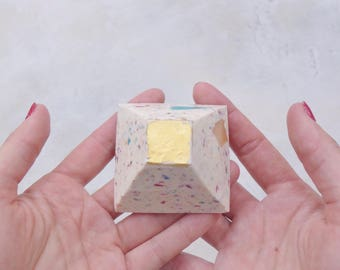 Confetti Gold Leaf Soap Pyramid, Soap Bar, Soap, Gold Leaf, Handmade Soap, Gift for Girlfriend, Bonbonniere, Gift For Her, Bridal Shower