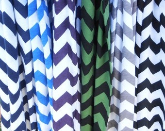 HUGE Selection...Chevron Print  Infinity Scarf Jersey Knit  White & Gray, Gift ideas