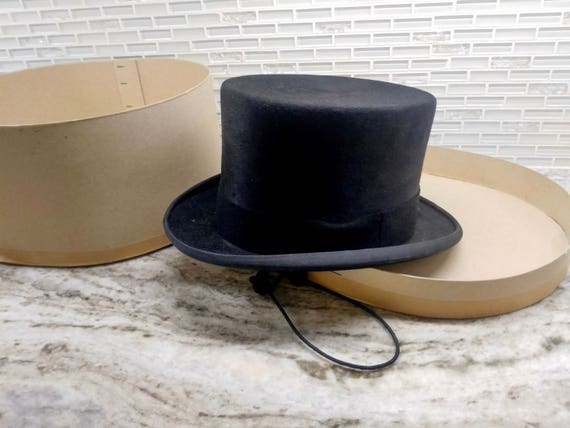 eab6df7eb6ef1 Vintage Christys London top hat size 7 57 Equestrian top