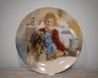 1982 William Chambers Annie and Sandy plate, Annie Collector's Plate Series, Knowles China Co
