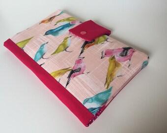 Diaper Clutch / Bag 'Birds', rose-pink