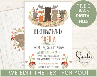 Woodland Party Invitation Etsy