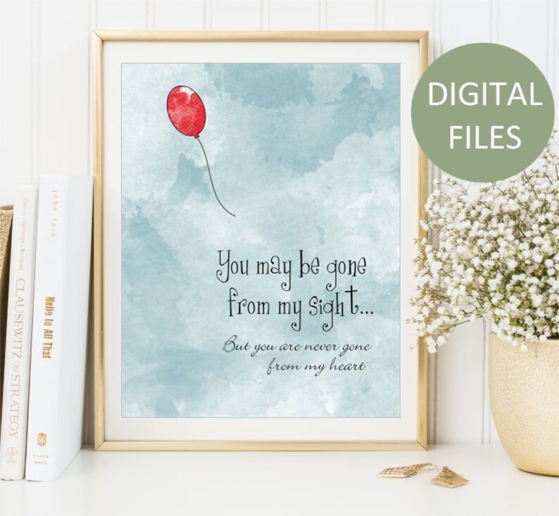 photograph about Gone From My Sight Printable Version titled Printable On your own could be absent versus my sight, Delight in Memory Watercolor Print, Memorial artwork indicator, Crimson Balloon Artwork Poster artwork, Electronic Information