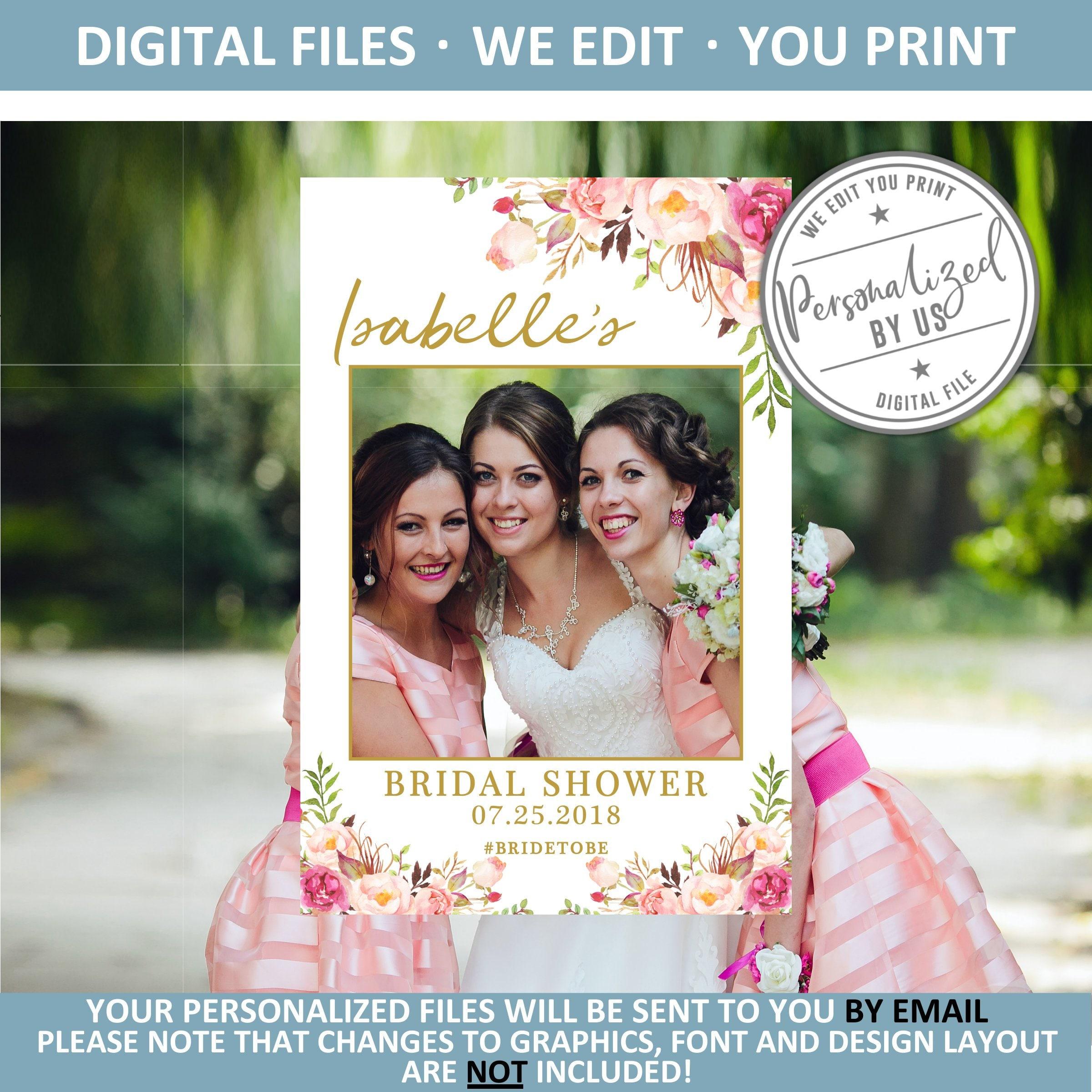 Instant download. Photography Props Photo Props Custom Selfie Frame Printable Photo Frame JPEG file Birthday Frame