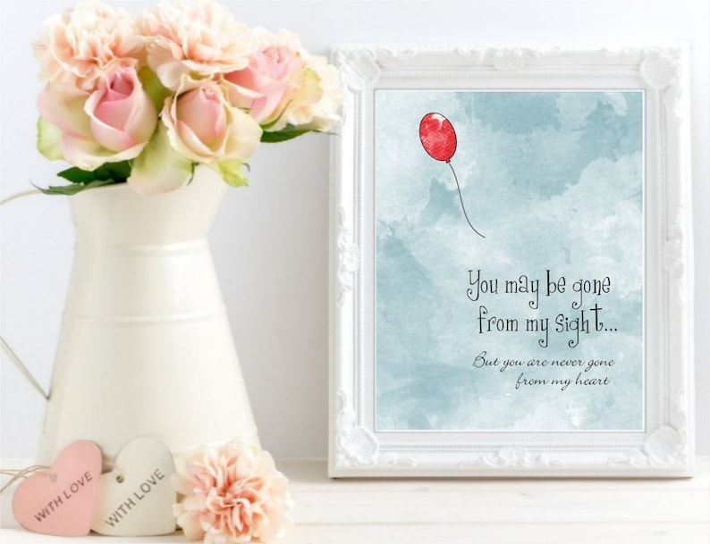 photo relating to Gone From My Sight Printable Version known as Printable On your own may well be absent against my sight, Delight in Memory Watercolor Print, Memorial artwork signal, Pink Balloon Artwork Poster artwork, Electronic Documents