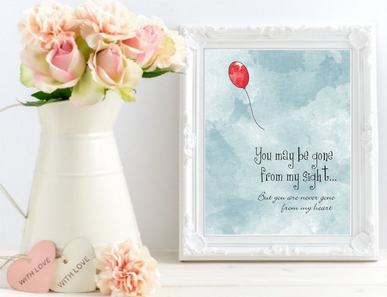 photograph relating to Gone From My Sight Printable Version known as Printable By yourself may well be absent in opposition to my sight, Take pleasure in Memory Watercolor Print, Memorial artwork indicator, Purple Balloon Artwork Poster artwork, Electronic Data files