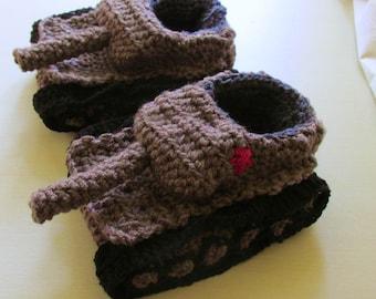 f103c746f42 Crochet Tank Slippers Tank Slippers Boyfriend Gifts Panzer