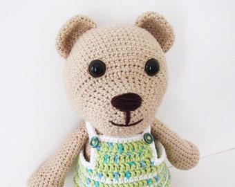 dress me up teddy bear - crochet bear - toy bear - stuffed teddy - crochet teddy - stuffed animal