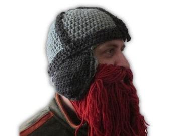 1b1ec814c47 Crochet Viking Hat