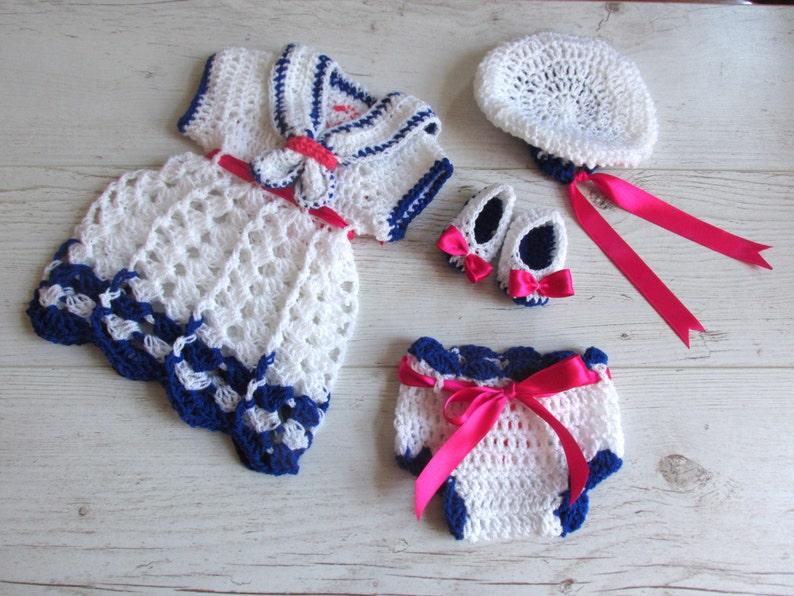 a5e54cb09b219 Baby Sailor Outfit Newborn sailor Dress Navy baby Dress | Etsy