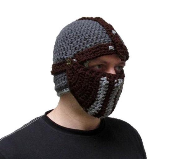 Wintermütze Ritter Hut häkeln häkeln Helm Helm Mütze   Etsy