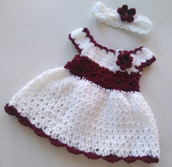 Vestido de bebé niña Coming Home y diadema en blanco y | Etsy