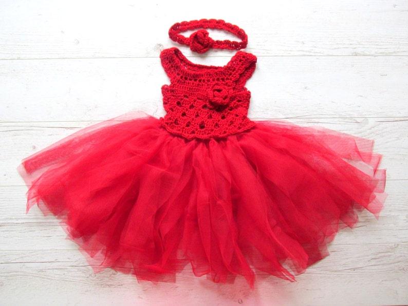 All uncinetto rosso abito tutu vestito di Cappuccetto  852d17acf73