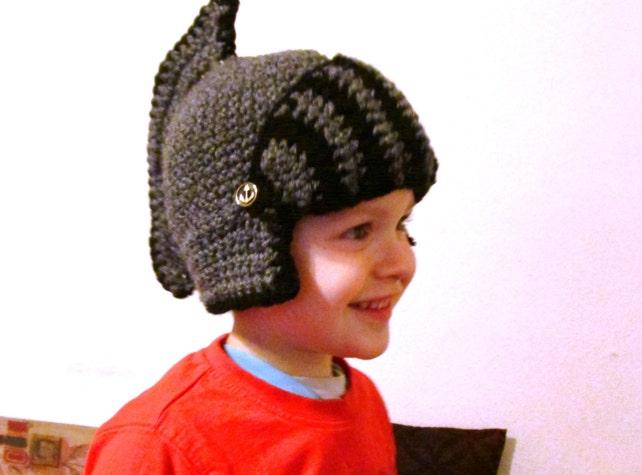 Ritter Helm dunkel grau Baby Hut Junge Hut Kinder Hut häkeln | Etsy